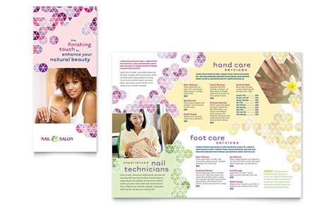 free spa brochure templates nail salon brochure template design