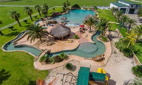 backyard lazy river cost 3 homes on the market with incredible resort style pools