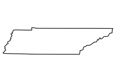 Tennessee Outline Map by Image Gallery Tennessee Outline