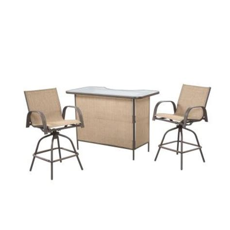 hton bay 3 patio bar set with levelers xb4023s93a