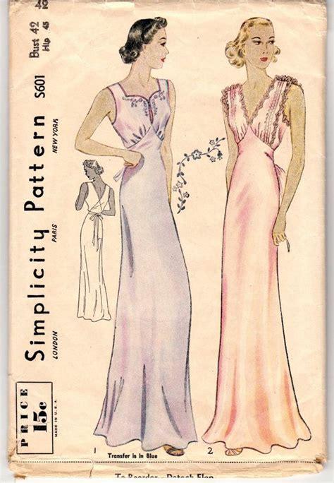 vintage nightwear pattern 235 best vieux carre images on pinterest 1930s fashion