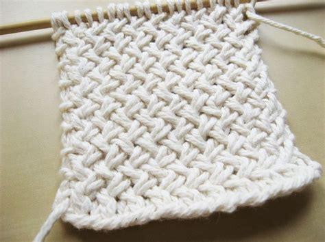 how to knit basket stitch diagonal basketweave knitting pattern weaving patterns
