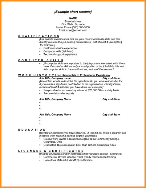Brief Resume Sle by Brief Resume Format 28 Images Embedded Systems Course Student Resume Template Brief Cover