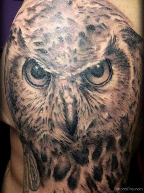 owl shoulder tattoo owl tattoos designs pictures