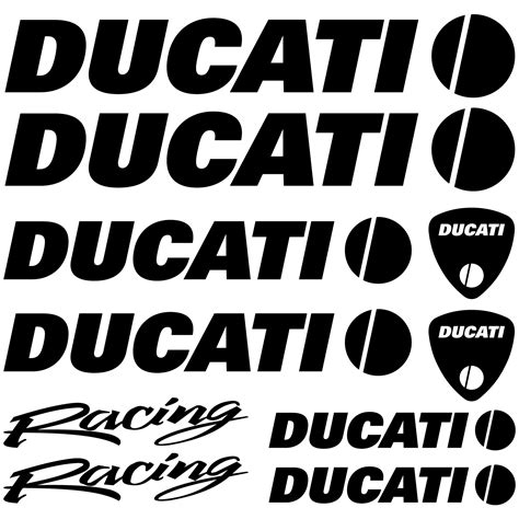 Racing Aufkleber Set by Wandtattoos Folies Ducati Racing Aufkleber Set