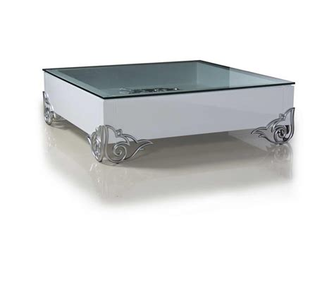 dreamfurniture white lacquer modern coffee table