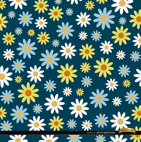pattern para ai seamless daisy pattern vector free download