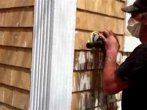 how to paint cedar siding on a house how to strip paint off cedar shingle siding youtube
