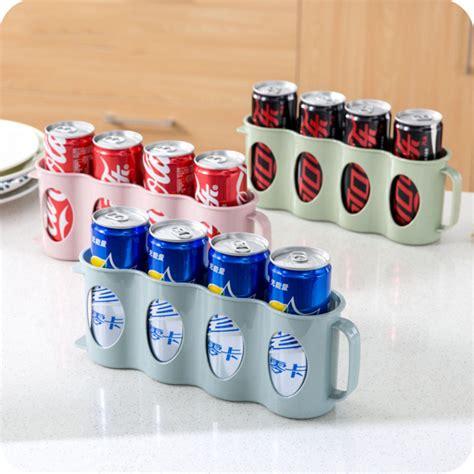 soda racks for cans beer or soda can storage holder kitchen fridge space saver organization rack