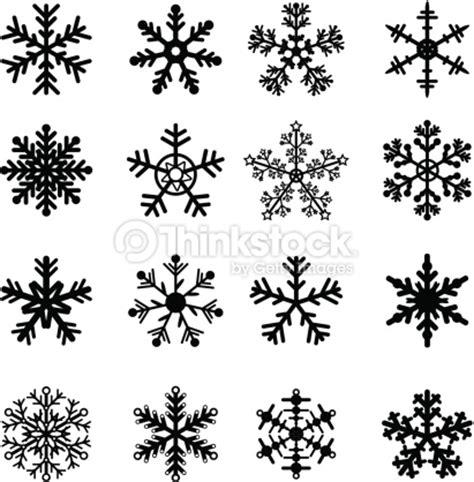 winter design trees retro art template abstract beautiful black and white snowflakes set vector art thinkstock