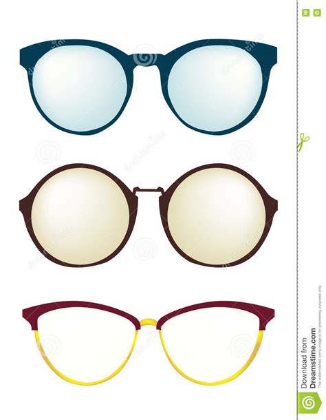 fashion glasses frame different styles set eyeglasses