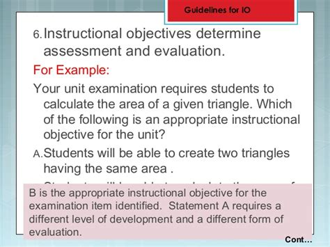 statement of educational objectives 4 objectives