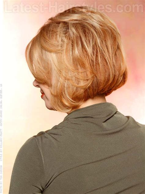 photos of back of layered bob medium bob haircuts stacked in the back