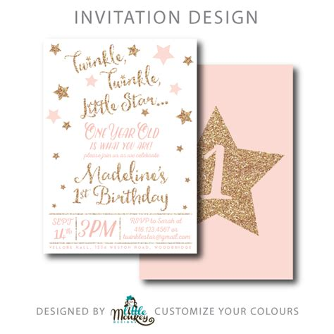 Twinkle Twinkle Card Templates To Print by Birthday Invite Twinkle Twinkle