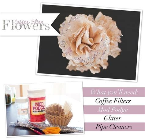 How To Make Paper Flowers Out Of Coffee Filters - coffee filter flowers diy 183 how to make a paper flower