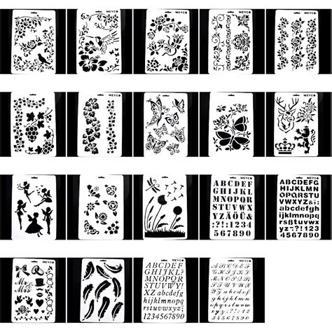 scrapbooking stencils and templates diy layering painting template stencils for diy