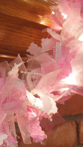pink christmas garland christmas garland rag garland