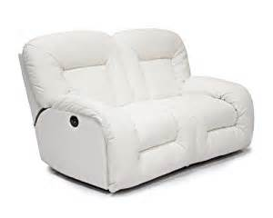 White Leather Reclining Loveseat Ac Pacific Bruno Power Dual Reclining