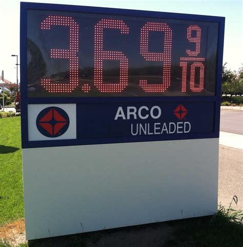 cost of lighted business signs led gas price changer manufacturer