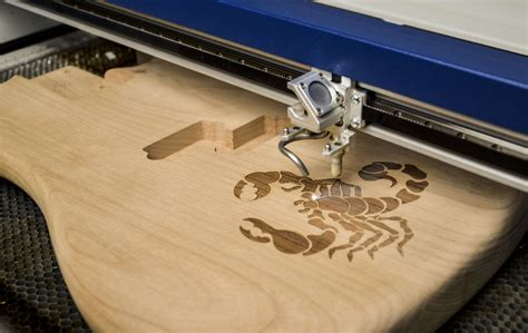 wood engraving with a laser system from epilog