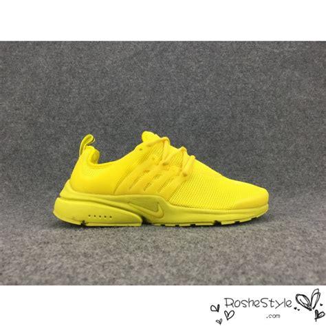 womens yellow nike running shoes womens mens nike air presto br qs all yellow running shoes