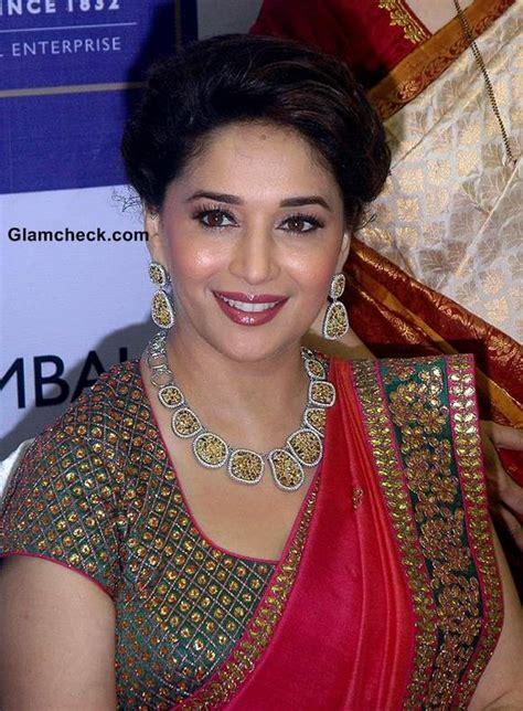 madhui dixit latest updo and hair styles madhuri dixit inaugurates jewellery store in mumbai