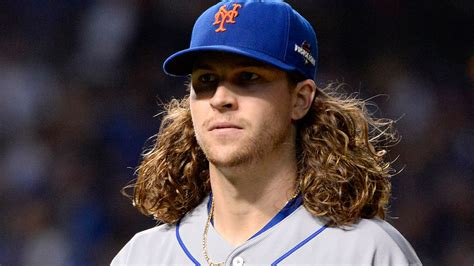 white baseball players with dark hair new york mets jacob degrom plans to get haircut after