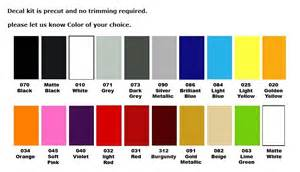 dodge ram color chart autos post
