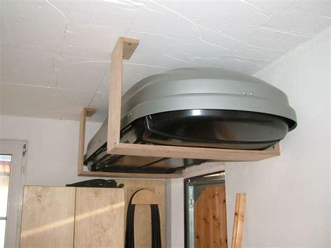 holz in der garage lagern halterung f 252 r dachbox christians holzprojekte