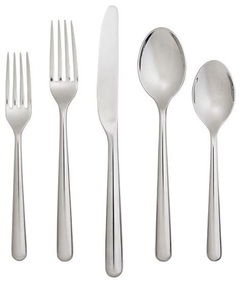 modern flatware sets charlotte 20 piece flatware set modern flatware and