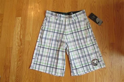 shorts white navy 30 smash op pacific s size 28 30 shorts white navy green plaid stretch swim trunks zip fly nwt