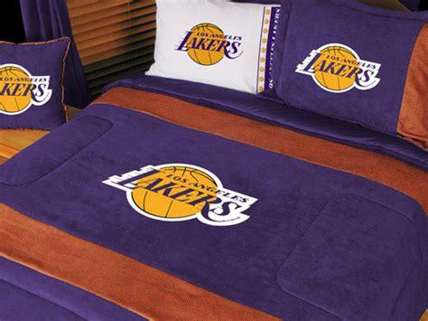 La Lakers Bedding Sets Los Angeles Lakers Nba Microsuede Comforter Sheet Set