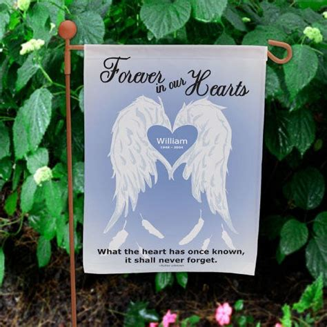 personalized wings memorial garden flag what the