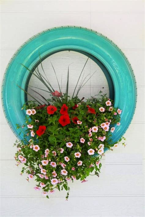Tires As Planters by Painted Tire Planter Plant This
