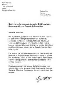 Exemple De Lettre Bancaire Modele Lettre Resiliation Compte Joint