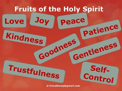 7 fruits of the spirit the fruits of the holy spirit