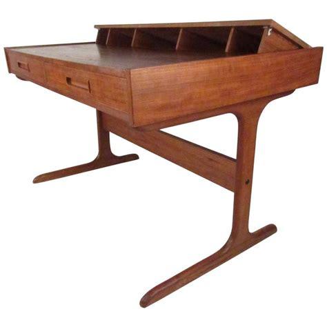 mid century modern teak pop up desk at 1stdibs