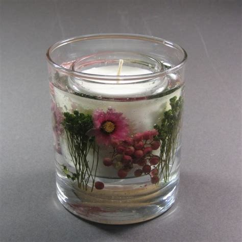 gel candele stoneglow candles meadow flower wax gel candles