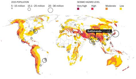 earthquake risk tremors changing contours of world map