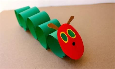 crafts on paper craft hungry caterpillar kidspot