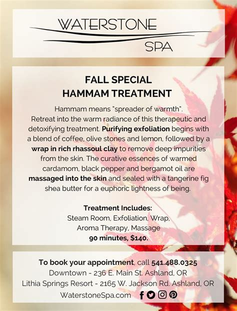 Detox Spa Oregon by Fall Special Spa Oregon Waterstone Spa