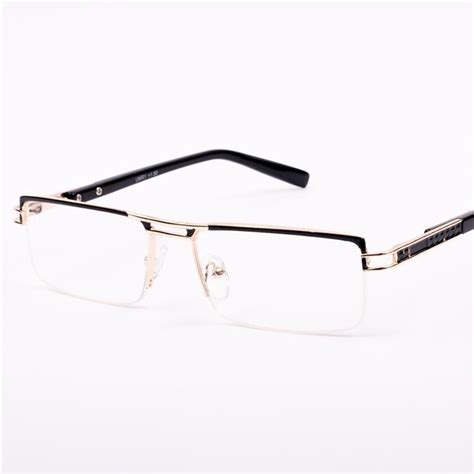 mens quality reading glasses semi rimless metal 1 0 1 25