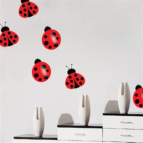 ladybug wall stickers nursery ladybug decal nursery wall decal murals