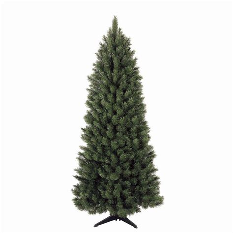 corner christmas tree general foam 6 5 ft green spruce corner artificial tree hd qt6547 the home depot