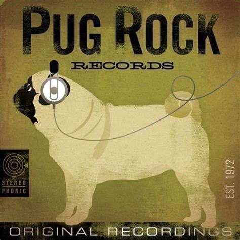 pug photo album pug rock records album style graphic artwork archival giclee print by stephen