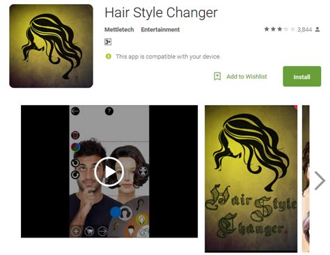 Change Hairstyle App by Hair Color Changer Android Apps On Play Of Hair