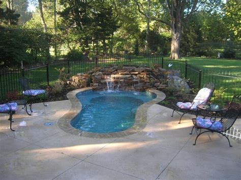 small inground pool spa ideas images  pinterest