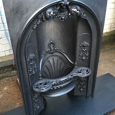 arched gas fireplace insert arched iron fireplace insert from victorian
