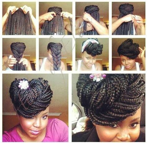 pictures of box braids braid pattern box braid pompadour pic tutorial hair styles pinterest