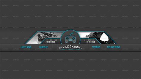 youtube gaming banner template www pixshark com images